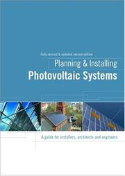 Cover of: Planning and Installing Photovoltaic Systems | Deutsche Gesellshaft FГјr Sonnenenergie