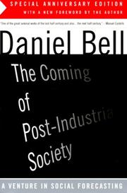 Cover of: The coming of post-industrial society