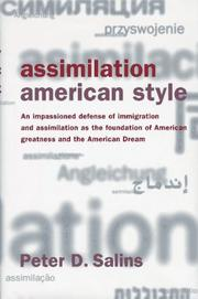 Cover of: Assimilation, American style | Peter D. Salins