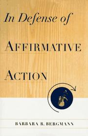 Cover of: In defense of affirmative action