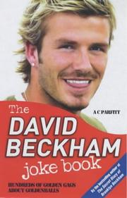 Cover of: The David Beckham Joke Book | A. C. Parfitt
