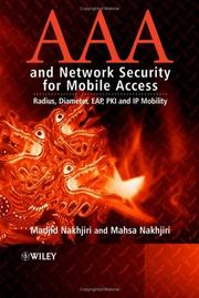 Cover of: AAA and Network Security for Mobile Access | Madjid  Nakhjiri