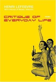 Cover of: Critique of Everyday Life, Volume 1