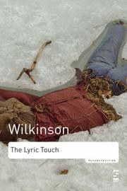 Cover of: The Lyric Touch (Reconstruction) | John Wilkinson