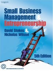 Cover of: Small Businesss Management And Entrepreneurship | David Stokes
