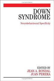 Cover of: Down Syndrome | Jean-Adolphe, PhD Rondal