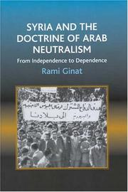 Cover of: Syria and the Doctrine of Arab Neutralism