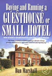 Cover of: Starting and Running a Guesthouse or Small Hotel