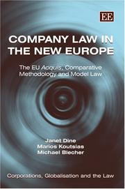Cover of: Company law in the new Europe