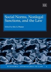 Cover of: Social Norms, Nonlegal Sanctions, and the Law (Economic Approaches to Law)