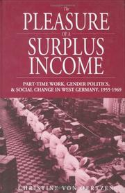 Cover of: The Pleasure of a Surplus Income | Christine von Oertzen