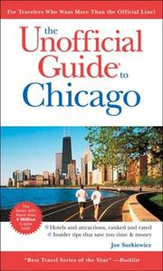 Cover of: The Unofficial Guide to Chicago (Unofficial Guides) | David Hoekstra