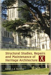 Cover of: Structural Studies, Repairs and Maintenance of Heritage Architecture X | C. A. Brebbia