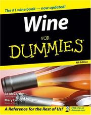 Cover of: Wine For Dummies (For Dummies (Cooking)) | Ed McCarthy