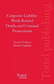 Cover of: Corporate Liability | Gerard Forlin