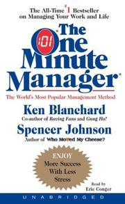 Cover of: One Minute Manager | Ken Blanchard