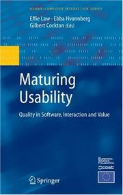 Cover of: Maturing Usability |