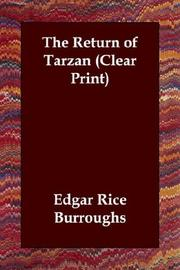 Cover of: The Return of Tarzan (Clear Print) by Edgar Rice Burroughs