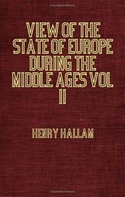 Cover of: View Of The State Of Europe During The Middle Ages - Vol II