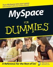 Cover of: MySpace For Dummies (For Dummies (Computers)) | Ryan Hupfer