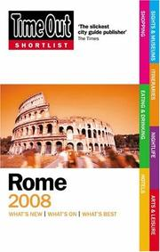 Cover of: Time Out Shortlist Rome 2008 (Time Out Shortlist)