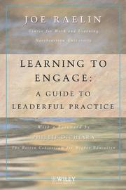 Cover of: Learning to Engage | Joseph A. Raelin