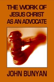 Cover of: The Work of Jesus Christ as an Advocate