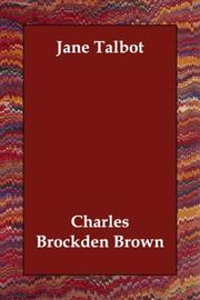Cover of: Jane Talbot | Charles Brockden Brown