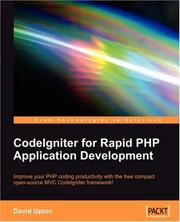 Cover of: CodeIgniter for Rapid PHP Application Development