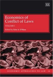 Cover of: Economics of Conflict of Laws (Economic Approaches to Law Series) | Erin Ohara