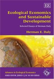 Cover of: Ecological Economics and Sustainable Development