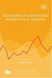Cover of: Handbook of Survey-Based Business Cycle Analysis (Ifo Economic Policy an Elgar Original Reference)