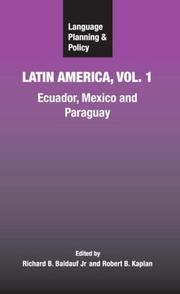 Cover of: Language Planning and Policy in Latin America, Vol. 1 |