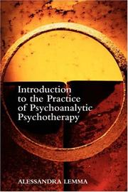 Cover of: Introduction to the Practice of Psychoanalytic Psychotherapy