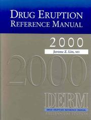 Cover of: Drug Eruption Reference Manual 2000, Millennium Edition DERM