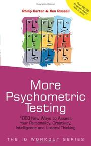 Cover of: More psychometric testing | Philip J. Carter