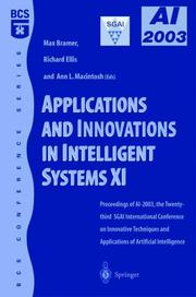 Cover of: Applications and Innovations in Intelligent Systems XI by
