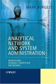 Cover of: Analytical Network and System Administration | Mark Burgess