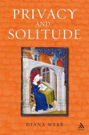 Cover of: Privacy And Solitude in The Middle Ages | Diana Webb