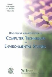 Cover of: Development and Application of Computer Techniques to Environmental Studies VII (Environmental Studies Vol 2) |