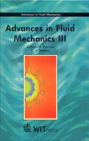 Cover of: Advances in Fluid Mechanics III (Advances in Fluid Mechanics) |