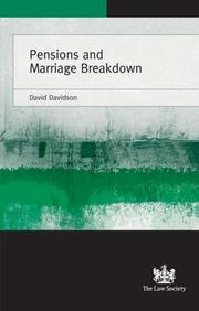 Cover of: Pensions and Marriage Breakdown | David Davidson