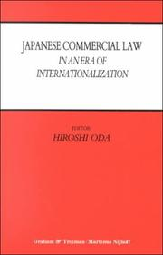 Cover of: Japanese Commercial Law in an Era of Internationalization | Hiroshi Oda