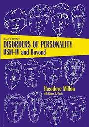 "Disorders of Personality: DSM-IVâ""¢ and Beyond"