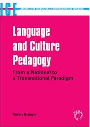 Language And Culture Pedagogy by Karen Risager