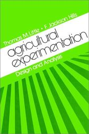 Cover of: Agricultural experimentation
