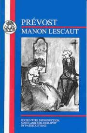 Cover of: Prevost: Marion Lescaut (BCP French Texts)