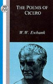 Cover of: The Poems of Cicero (BCP Classic Commentaries on Greek & Latin Texts) by W. W. Eubank