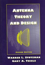 Cover of: Antenna theory and design