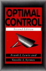 Cover of: Optimal control | Frank L. Lewis